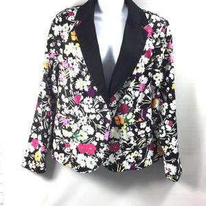 Torrid Womens Plus Size 1 Floral Jacket Blazer